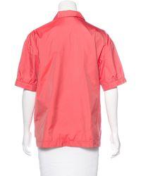 Dries Van Noten   Pink Collared Short Sleeve Top Coral   Lyst
