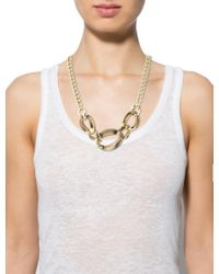 Alexis Bittar - Metallic Lucite & Crystal Chain-link Necklace Gold - Lyst