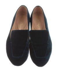 Robert Clergerie - Blue Paris Round-toe Velvet Loafers - Lyst