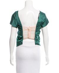 Marc Jacobs - Green Silk Bustier Top - Lyst