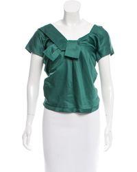 Marc Jacobs | Green Silk Bustier Top | Lyst