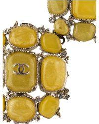Chanel - Metallic Gripoix Collar Necklace Silver - Lyst
