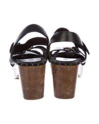 Rachel Comey - Black Leather Clog Sandals - Lyst