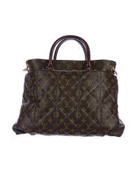 Louis Vuitton - Natural Python & Ostrich-trimmed Etoile Exotique Tote Gm Brown - Lyst