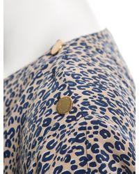 Louis Vuitton - Blue Silk Cheetah Print Tunic - Lyst