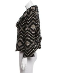 Giambattista Valli - Black Jacquard Cropped Jacket W/ Tags - Lyst