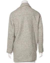 IRO - Gray Wool-blend Coat Grey - Lyst