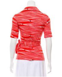 Diane von Furstenberg - Natural Silk Jillianna Top Orange - Lyst
