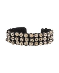 Isabel Marant - Metallic Sequin Cuff Bracelet Silver - Lyst
