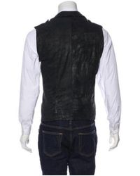 Rick Owens - Black Cracked Lambskin Vest for Men - Lyst