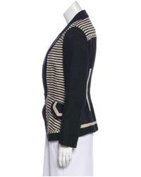 Proenza Schouler - Black Striped Linen Blazer - Lyst