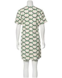 Tory Burch - Blue Printed Mini Dress - Lyst