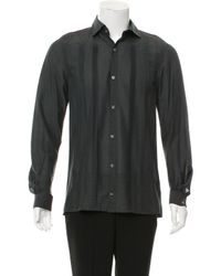 Miharayasuhiro - Green Striped Button-up Shirt for Men - Lyst