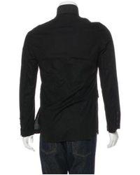 Ann Demeulemeester - Black Lightweight Striped Jacket for Men - Lyst