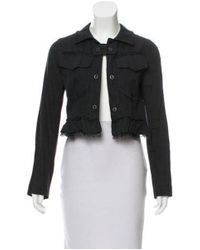 Hache - Black Linen-blend Jacket - Lyst