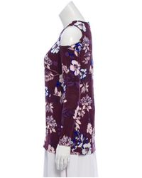 Piamita - Purple Long Sleeve Print Top Plum - Lyst