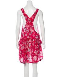 Isabel Marant - Red Floral Print Sleeveless Romper - Lyst