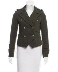 Smythe - Green Structured Wool Jacket Olive - Lyst