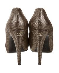 Chanel - Metallic Cap-toe Pumps Gold - Lyst