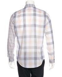 Louis Vuitton | Blue Plaid Woven Shirt for Men | Lyst