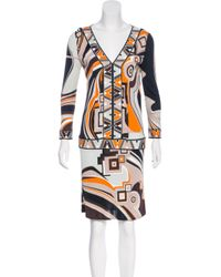 Emilio Pucci - White Printed Knee-length Dress - Lyst