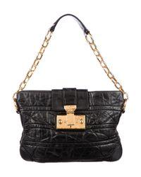 5c40ecb5d26 Marc Jacobs. Women's Metallic Baroque Quilted Leather Shoulder Bag Black