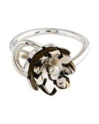 Pamela Love - Metallic Small Anemone Ring Silver - Lyst