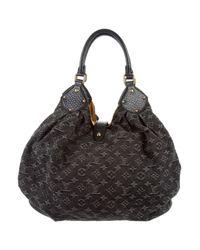Louis Vuitton - Metallic Denim Mahina Xl Black - Lyst
