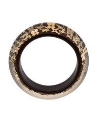 Louis Vuitton - Metallic Monogram Inclusion Gm Bracelet Brown - Lyst