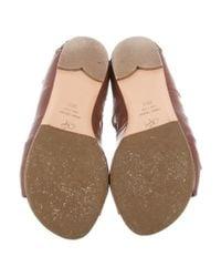 Proenza Schouler - Brown Leather Gladiator Sandals - Lyst
