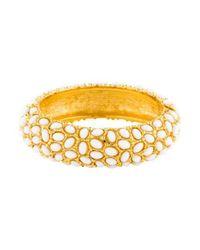 Kenneth Jay Lane - Metallic Cabochon Bracelet Gold - Lyst