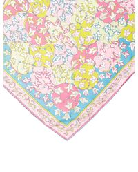 Emilio Pucci - Pink Printed Woven Scarf - Lyst
