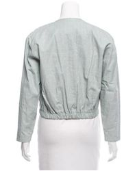 Samuji - Blue Cropped Coated Jacket W/ Tags - Lyst