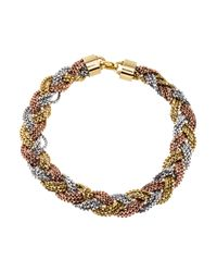 Dior - Metallic Vintage Braided Multistrand Necklace Gold - Lyst