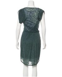 Étoile Isabel Marant - Green Pleated Midi Dress - Lyst