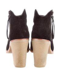 10 Crosby Derek Lam - Black Suede Ankle Boots - Lyst