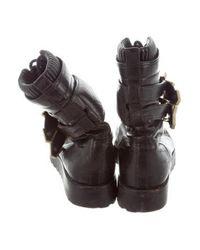 Alexander Wang - Metallic Leather Mid-calf Boots Black - Lyst