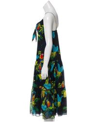 Marc Jacobs - Black Sleeveless Printed Midi Dress - Lyst