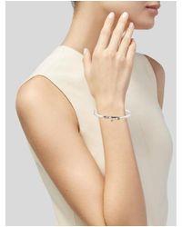Tiffany & Co - Metallic Two-tone Hook Eye Bracelet Silver - Lyst