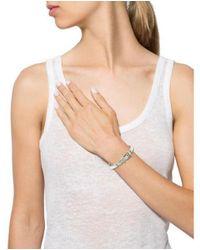 Michael Kors - Metallic Enamel Buckle Bracelet Silver - Lyst