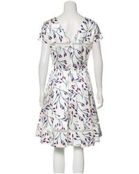 Carolina Herrera - Red Silk Blend Printed Dress - Lyst