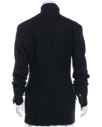 Yohji Yamamoto - Black Zip-up Short Coat - Lyst