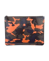 Givenchy - Metallic Camouflage Leather Pouch Green for Men - Lyst