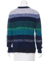 Proenza Schouler - Blue Striped Sweater - Lyst