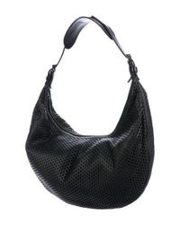 Dior - Metallic Perforated Leather Hobo Black - Lyst