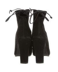 Stuart Weitzman - Black Suede Ankle Boots - Lyst