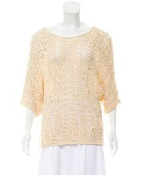 Rachel Zoe - Natural Texture Knit Top Tan - Lyst