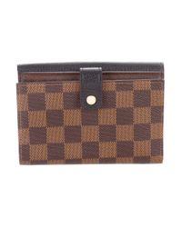Louis Vuitton - Natural 2016 Damier Ebene Normandy Compact Wallet Brown - Lyst