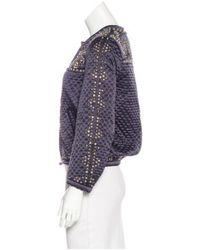Isabel Marant - Blue Silk Embellished Jacket - Lyst