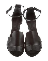 Rachel Comey - Black Leather Ankle-strap Sandals - Lyst